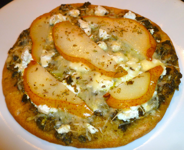 Pesto, Pear and Goat Cheese Mini Pizza - Orlando Dietitian ...