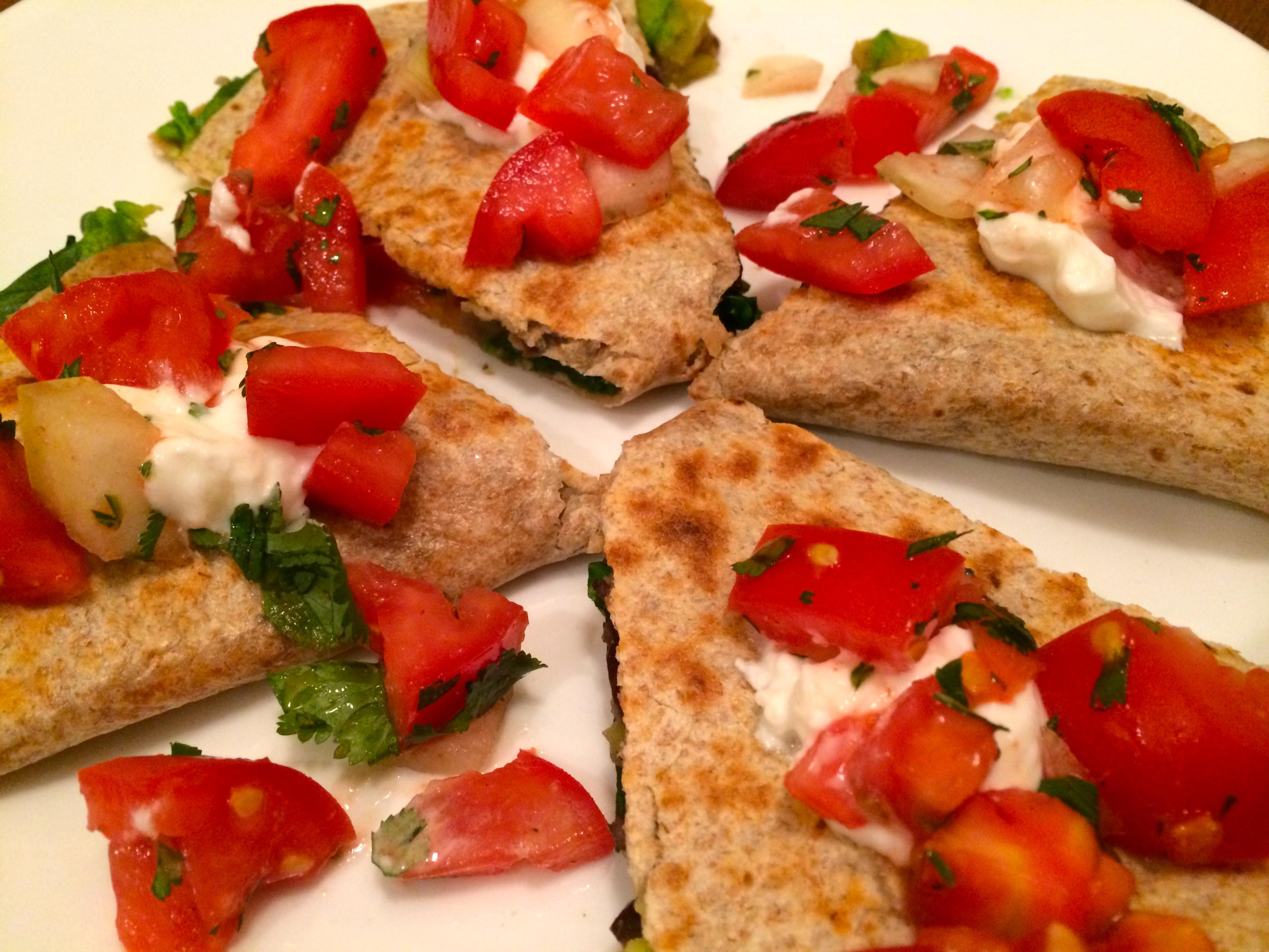 Healthy Green Chile & Spinach Quesadillas with Fresh Salsa - Orlando ...