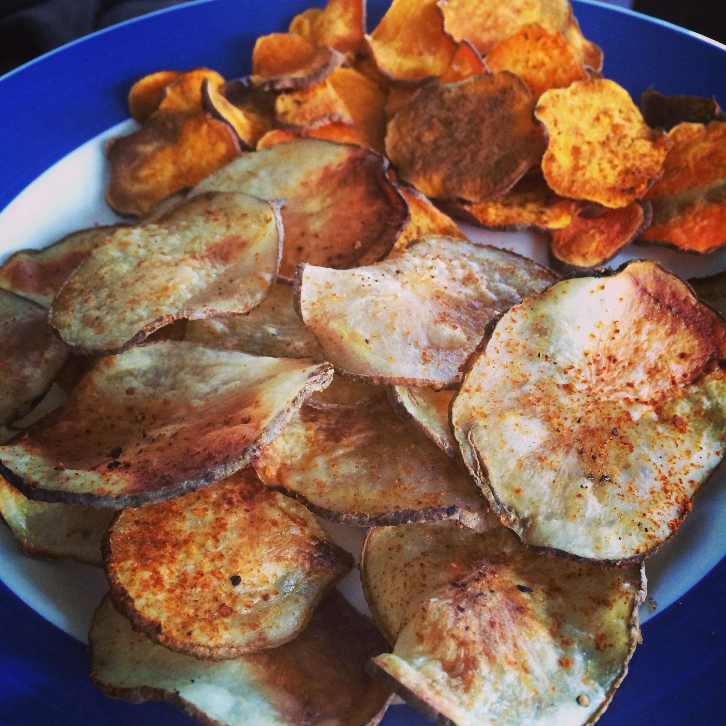 Homemade BBQ Potato Chips and Curried Sweet Potato Chips - Orlando ...