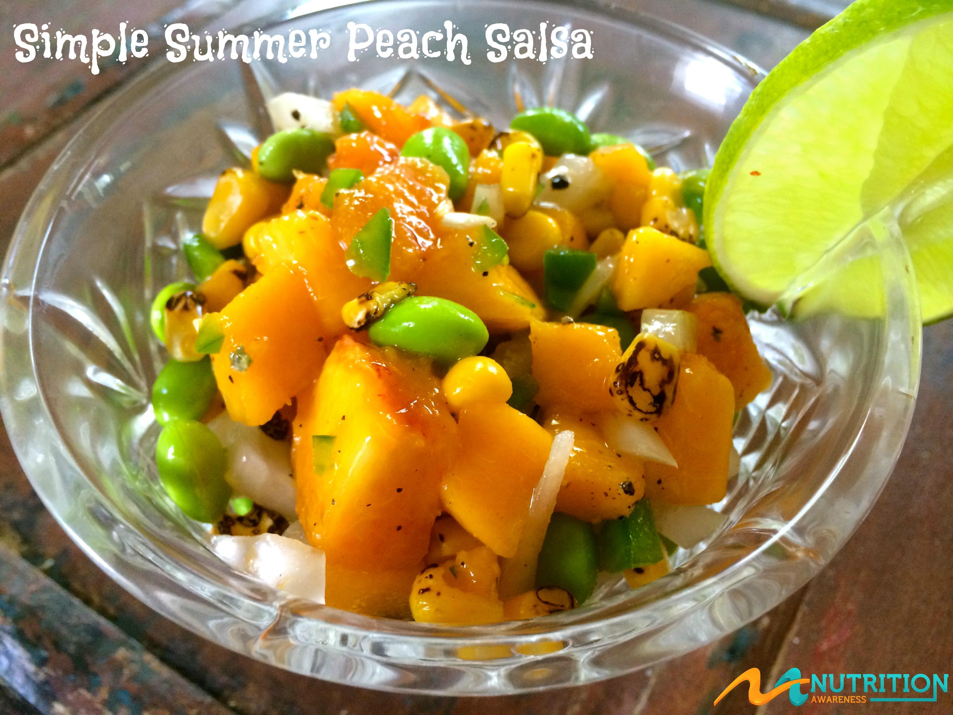 Simple Summer Peach Salsa - Orlando Dietitian Nutritionist