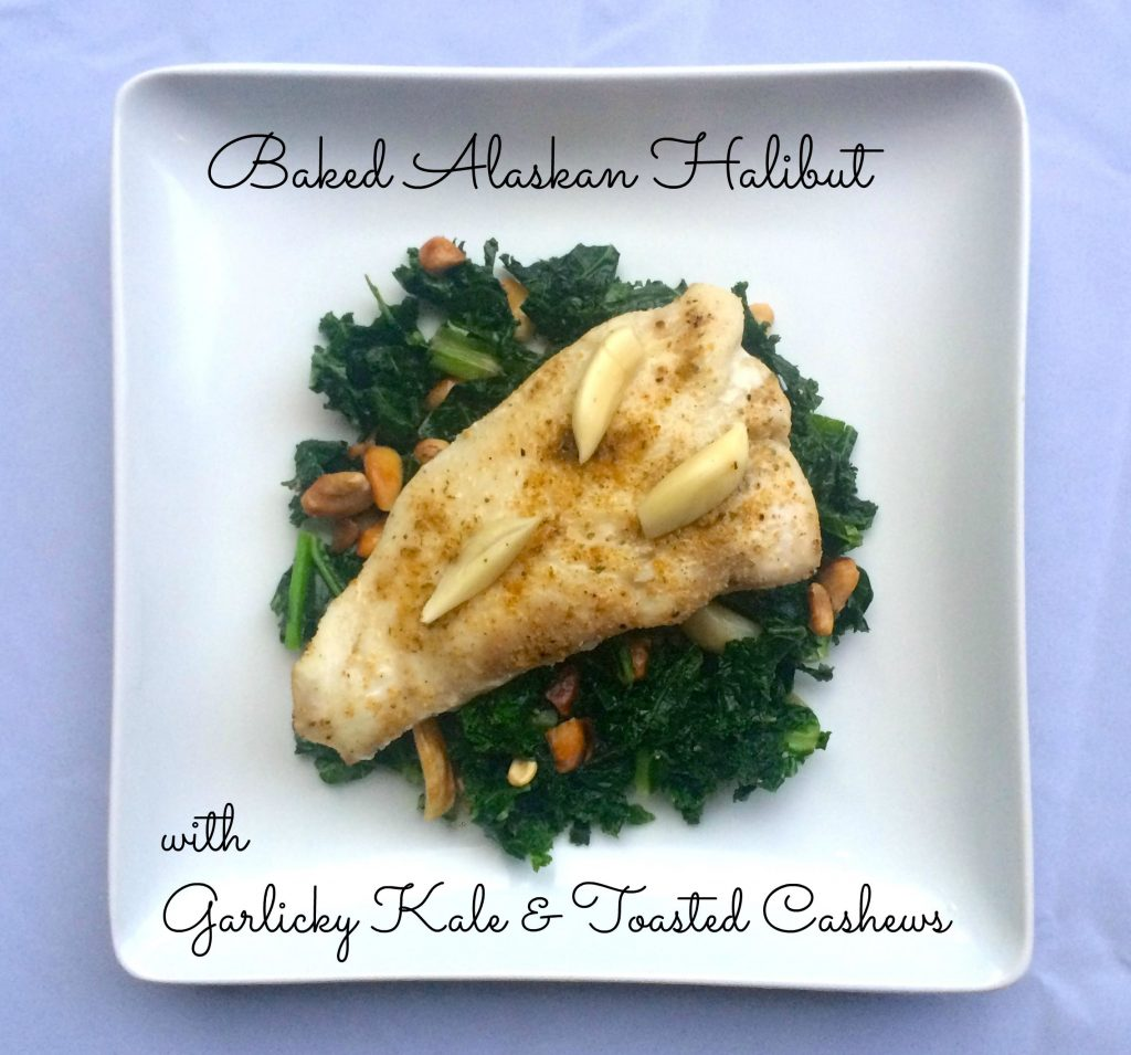 halibut with kale